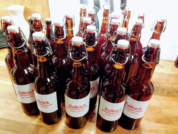 Irish Red Ale bottled